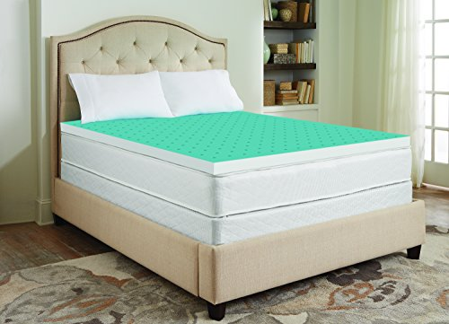 memory gel mattress topper Sharper Image 3