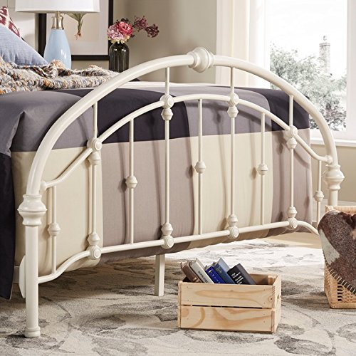 White Antique Vintage Metal Bed Frame In Full Or Queen